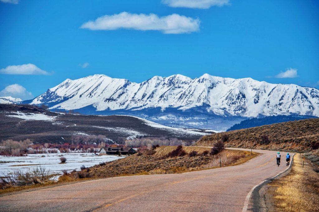 Road biking in Gunnison Valley, Colorado