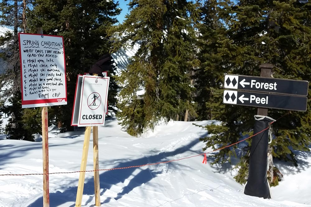 Ski Patrol signs in Crested Butte