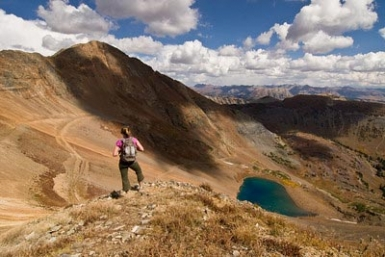 hiking near irwin, colorado in september