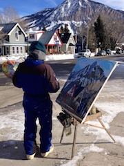 Artist Shuan Horne at work