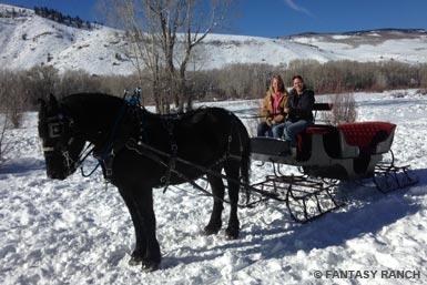 sleigh ride near Almont, CO