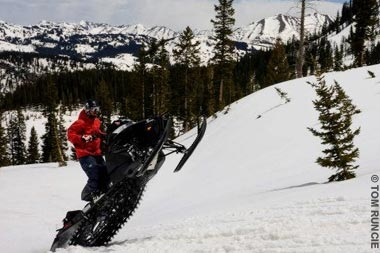 snowmobiling out the slate river valley near crested butte