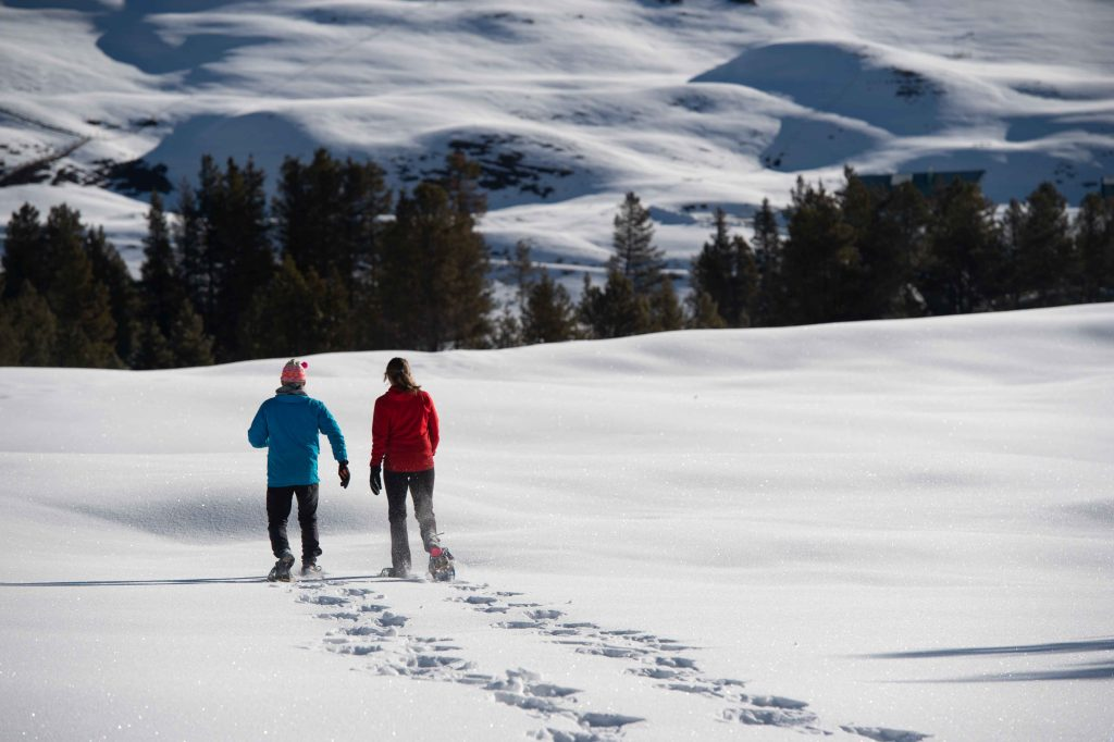 Photo of snowshoeing in Gunnison Valley