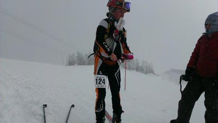 skimo racing in all kinds of weather