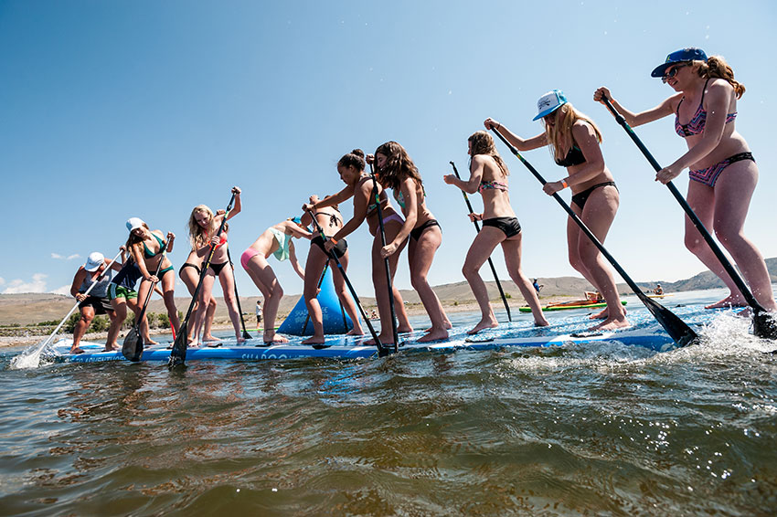 SUP of War at the Blue Mesa Beach bash