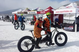 tandem racers in the Fat Bike World Championships