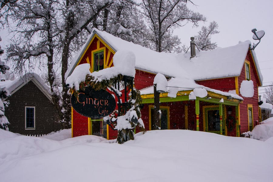 CB's The Ginger Cafe buried in snow