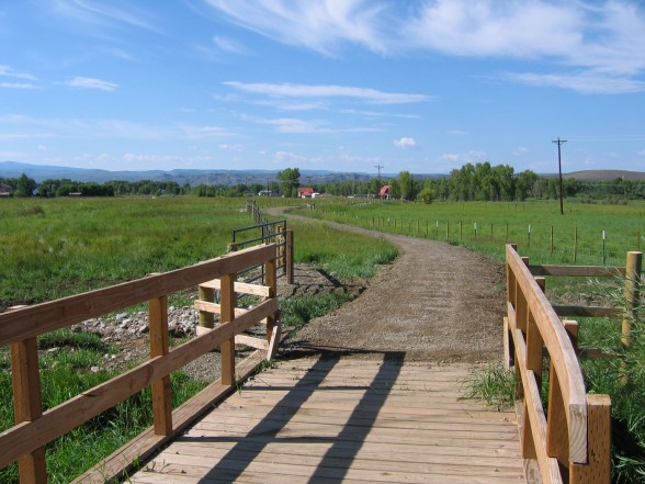 bridge on the van tuyl loop trail near Gunnison, CO