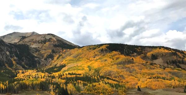 whetstone mountain peak fall color
