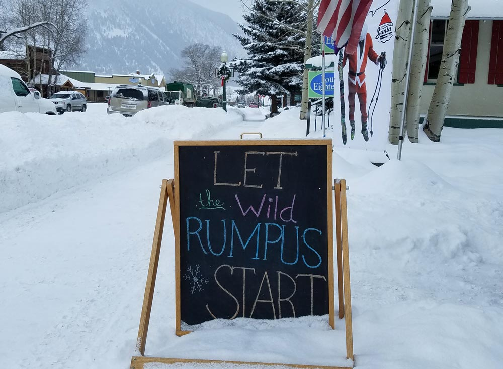 Wild Rumpus sign from Rumors Cafe in CB
